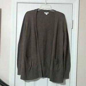 Brown open cardigan